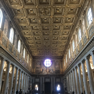 ceilings in roman basilica